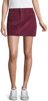 U.S. Polo Assn. Womens Mid Rise Short Denim Skirt-Juniors