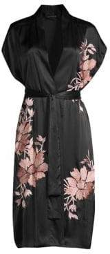 Natori Josie Deco Silk Embroidered Wrap
