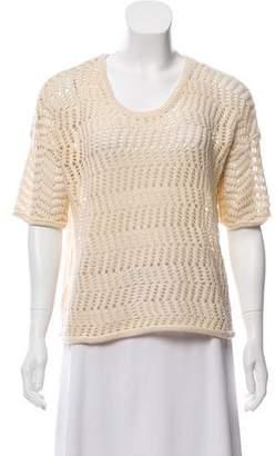 Rag & Bone Open-Knit Short Sleeve Top w/ Tags