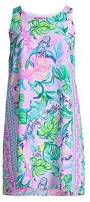 Lilly Pulitzer Women's Jackie Abstract Silk Shift Dress