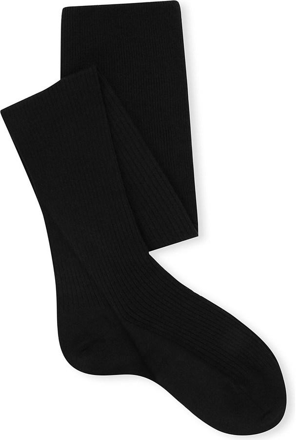 FALKE Ribbed knee-high wool socks