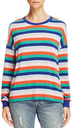 Aqua Striped Drop-Shoulder Top - 100% Exclusive