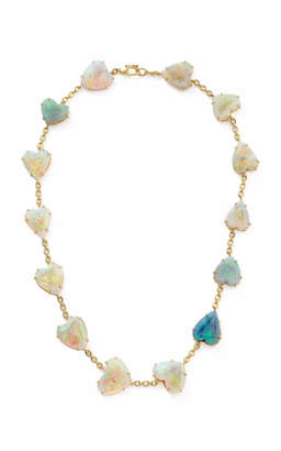 Irene Neuwirth One-Of-A-Kind 18K Yellow Gold Opal Hearts Necklace