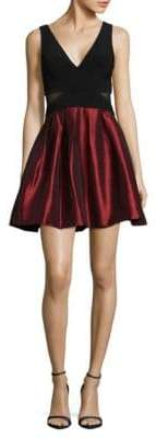 Xscape Evenings Short Flocked Party Dress