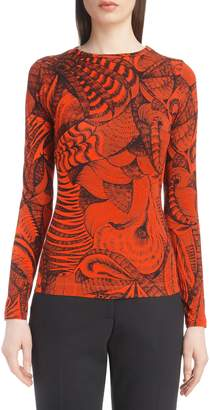 Dries Van Noten Tattoo Print Fitted Knit Top