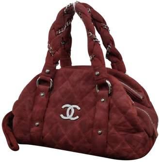 Chanel Burgundy Suede Handbag