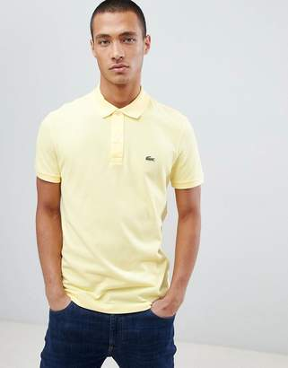 Lacoste slim fit pique polo in yellow