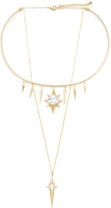 Noir Starburst Layered Necklace