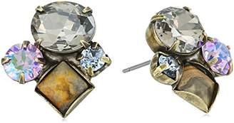Sorrelli Women's Washed Waterfront Mixed Media Cluster Stud Earrings