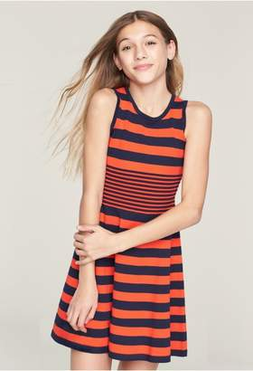 Milly Minis Striped Ottoman Flare Dress