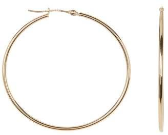 KARAT RUSH 10K Yellow Gold 19mm Tube Hoop Earrings