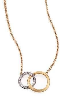 Marco Bicego Women's Jaipur Link Diamond, 18K White & Yellow Gold Pendant Necklace