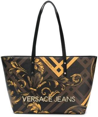 0013d5958f52 Versace baroque print shopper tote
