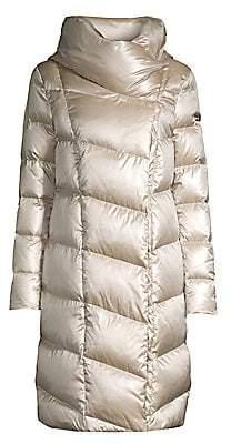 Donna Karan Women's Funnel-Neck Down Coat