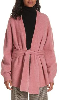 Veronica Beard Estella Belted Wool Blend Cardigan