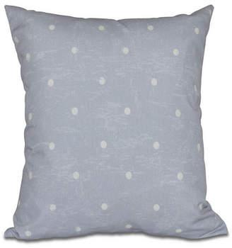 Dorothy Dot 16 Inch Gray Decorative Polka Dot Throw Pillow