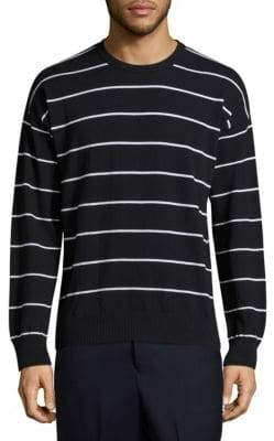 Ami Striped Crewneck Sweatshirt
