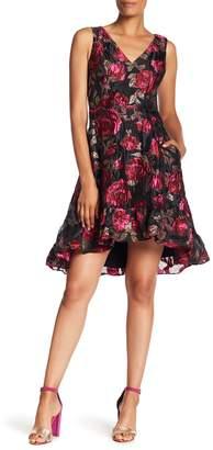 Rachel Roy Sleeveless Metallic Jacquard Knit Dress