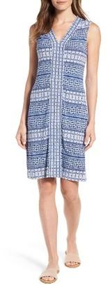 Women's Tommy Bahama Greek Grid Jersey Dress $138 thestylecure.com