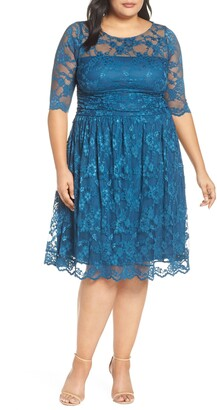 Kiyonna Luna Lace A-Line Dress