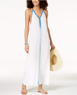 Raviya Multi-Colored Trim Maxi Dress Cover-Up Women's Swimsuit