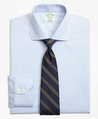 Brooks Brothers Milano Slim-Fit Dress Shirt, Non-Iron Micro-Check