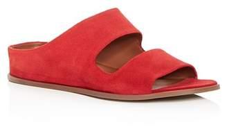 Aquatalia Women's Abbey Weatherproof Suede Hidden Wedge Slide Sandals