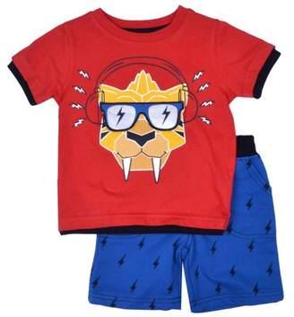 Nannette Baby Toddler Boy Interactive 3D T-shirt & Knit Shorts, 2pc Outfit Set