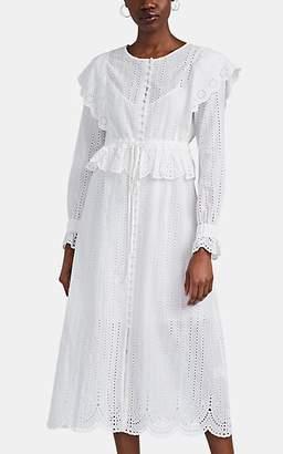 SIR the Label Women's Leila Cotton Eyelet Ruffle Dress - White
