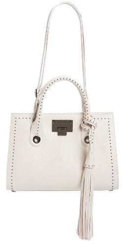Jimmy ChooJimmy Choo Riley Studded Leather Satchel - White