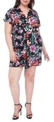 Bobeau Plus Aniyah Twist-Front Woven Dress