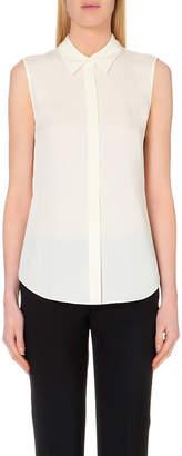Theory Tanelis sleeveless silk shirt