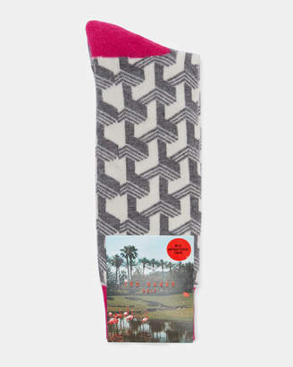 Ted Baker MAS Club print socks