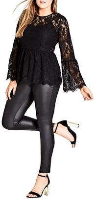 City Chic Divine Lace Top