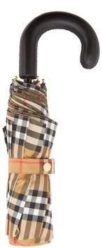 Burberry Vintage-check foldable umbrella