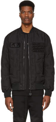 Diesel Black Down W-Tanaka Bomber Jacket