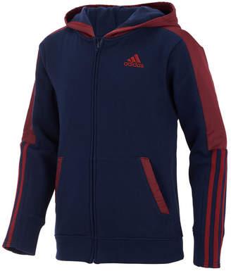 adidas Big Boys Hybrid Front-Zip Jacket