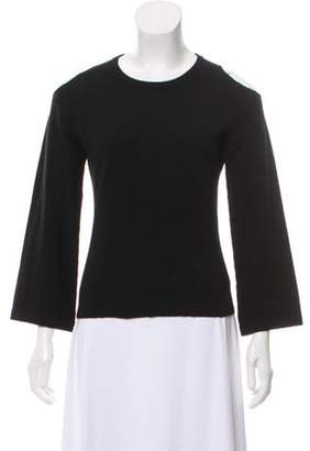 Alice + Olivia Cashmere Cold Shoulder Sweater Black Cashmere Cold Shoulder Sweater