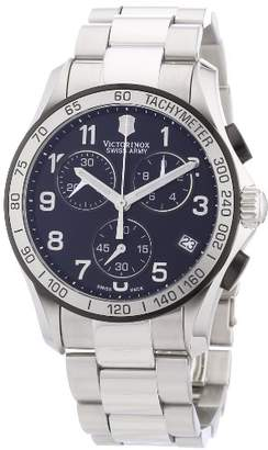 Victorinox Men's 241403 Chrono Classic Chronograph Black Dial Watch