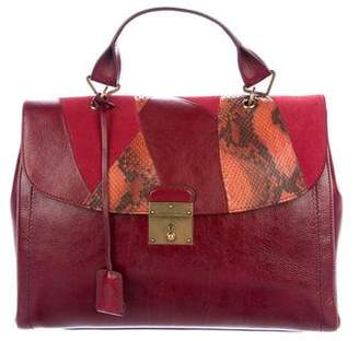 Marc Jacobs Snakeskin-Trimmed 1984 Satchel