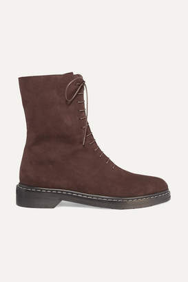 The Row Fara Suede Ankle Boots - Brown