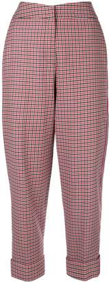 Hellessy high-waisted checked trouser