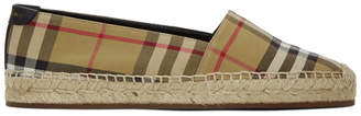 Burberry Beige Check Hodgeson Espadrilles