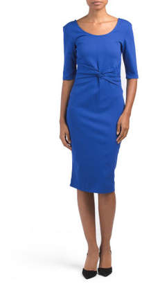 Made In Usa Solid Sheath Dress