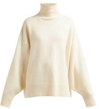 The Row Pheliana Roll Neck Cashmere Sweater - Womens - Ivory