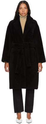 Yves Salomon Reversible Black Merino & Leather Coat