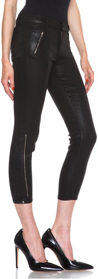 J Brand Carey Coated Zip Crop Jean in Laquered Carnelian