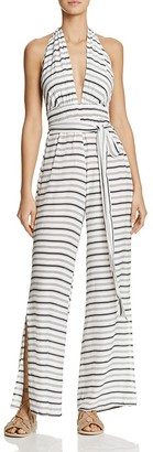 Faithfull the Brand Cannes Stripe Jumpsuit $155 thestylecure.com