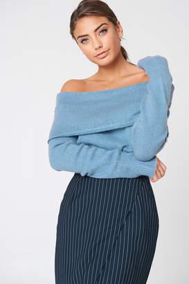 Na Kd Trend Offshoulder Folded Wide Sweater