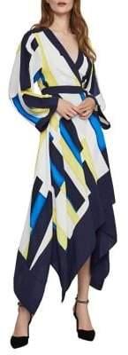 BCBGMAXAZRIA Colourblock A-Line Dress